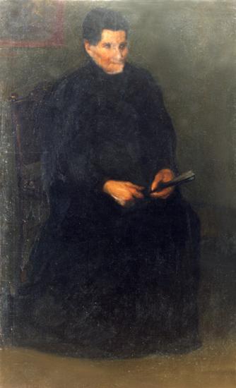 Señora con abanico. Retrato de Magdalena Echeverria.