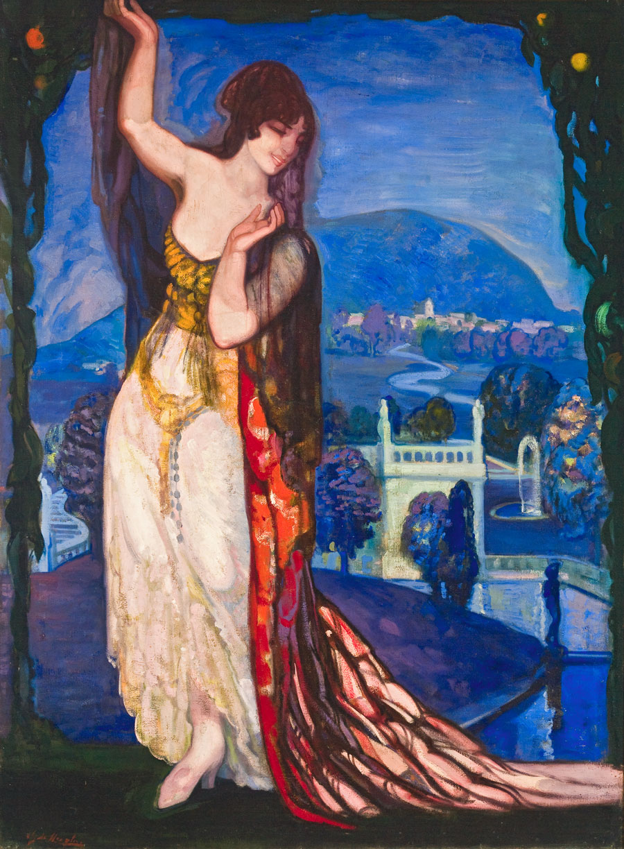 La musa nocturna. ID 007. Corpus Online Museo Gustavo de Maeztu